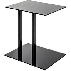 HAKU Möbel Beistelltisch Glas schwarz 45,0 x 35,0 x 50,0cm