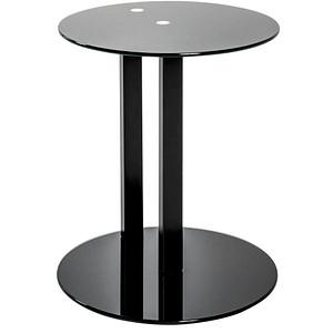 HAKU Möbel Beistelltisch Glas schwarz 40,0 x 40,0 x 50,0cm