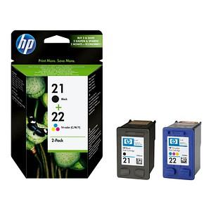 2 HP 21 + 22 (SD367AE) schwarz, color Tintenpatronen