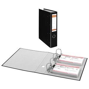 bene Doppelordner schwarz Karton 7,5 cm