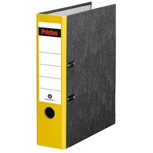 Printus Ordner gelb marmoriert Karton 8,0 cm DIN A4