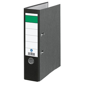 Grüner Balken Ordner schwarz marmoriert Karton 8,0 cm DIN A4