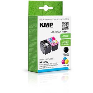2 KMP H168V schwarz, color Tintenpatronen ersetzen HP 302XL (F6U68AE/F6U67AE)
