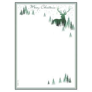 SIGEL Weihnachtsbriefpapier Christmas Forest Motiv DIN A4 90 g/qm 25 Blatt