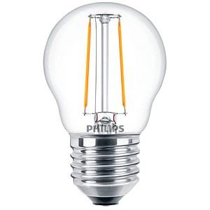PHILIPS LED-Lampe Classic LEDluster E27 2 W klar
