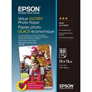 EPSON Fotopapier C13S400038 10,0 x 15,0 hochglänzend 183 g/qm 50 Blatt