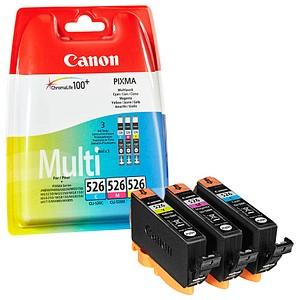 3 Canon CLI-526 C M Y cyan, magenta, gelb Tintenpatronen