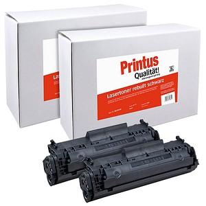 2 Printus schwarz Toner ersetzen HP 12A; Canon  703(Q2612A;  7616A005)