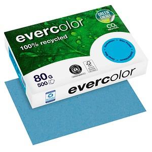 Clairefontaine Recyclingpapier Evercolor dunkelblau DIN A4 80 g/qm 500 Blatt