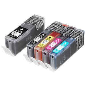 Printus schwarz, cyan, magenta, gelb Tintenpatronen ersetzen Canon PGI-550 XL BK, CLI-551 XL BK/C/M/Y