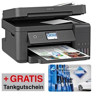 AKTION EPSON EcoTank ET-4750 4 in 1 Tintenstrahl-Multifunktionsdrucker schwarz GRATIS Aral Tankgutschein 20 8364