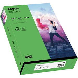 tecno Kopierpapier colors intensivgrün DIN A4 160 g/qm 250 Blatt