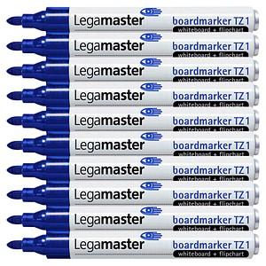 10 Legamaster TZ 1 Whiteboard- und Flipchart-Marker blau 1,5 - 3,0 mm