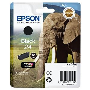 EPSON 24 / T2421 Foto schwarz Tintenpatrone