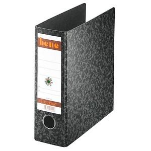 bene Spezial Ordner schwarz marmoriert Karton 7,5 cm DIN A5 hoch
