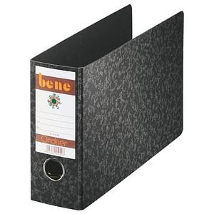 bene Spezial Ordner schwarz marmoriert Karton 7,5 cm DIN A5 quer