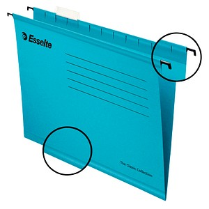 25 Esselte Hängemappen Pendaflex Collection blau