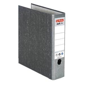 herlitz maX.file nature Ordner grau marmoriert Karton 8,0 cm DIN A4