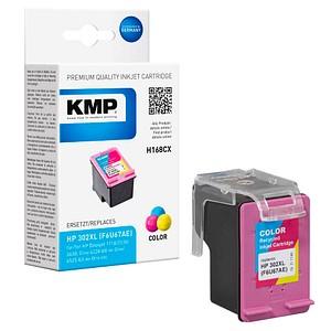 KMP H168CX color Tintenpatrone ersetzt HP 302XL (F6U67AE)