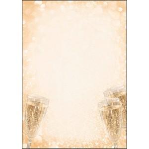 SIGEL Motivpapier Champagner Motiv DIN A4 90 g/qm 100 Blatt