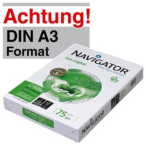NAVIGATOR Kopierpapier Eco-Logical DIN A3 75 g/qm 500 Blatt