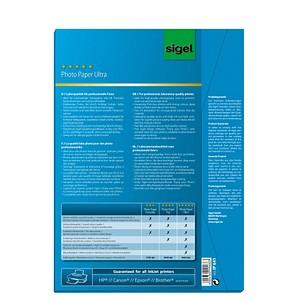 SIGEL Fotopapier IP641 DIN A4 hochglänzend 260 g/qm 50 Blatt