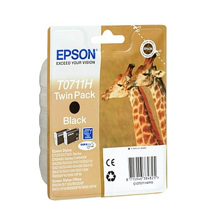 2 EPSON T0711H schwarz Tintenpatronen