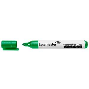 10 Legamaster TZ 100 Whiteboard- und Flipchart-Marker grün 1,5 - 3,0 mm