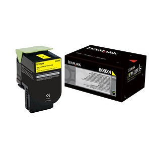 Lexmark 80C0X40 gelb Toner
