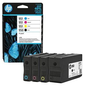 4 HP 950 + 951 (6ZC65AE) schwarz, cyan, magenta, gelb Tintenpatronen