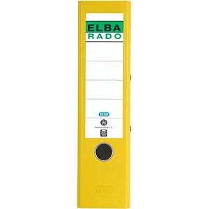 ELBA rado Wolkenmarmor Ordner gelb marmoriert Karton 8,0 cm DIN A4