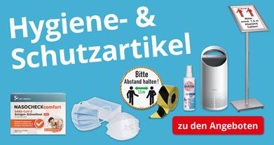 Hygieneschutz und Schnelltests